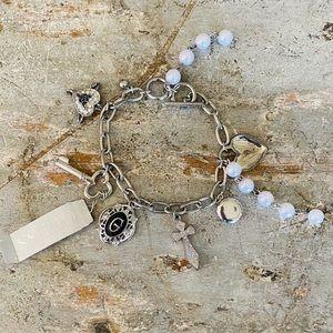 ♥️ Guess ♥️ Silver Charm Bracelet